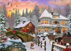 Country Christmas Christmas Jigsaw Puzzle