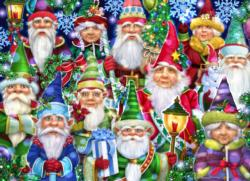 Christmas Gnomes Christmas Jigsaw Puzzle