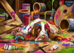 Puppy Picasso Dogs Jigsaw Puzzle