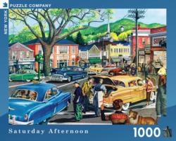 Saturday Afternoon (General Motors) Americana & Folk Art Jigsaw Puzzle