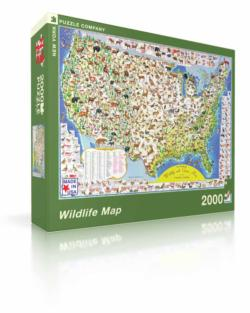 Wildlife Map United States 2000 and above