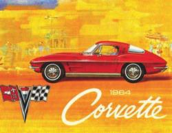 1964 Corvette (Mini) Nostalgic / Retro Jigsaw Puzzle