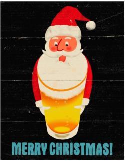 Santa's Beerd (Mini) Christmas Jigsaw Puzzle