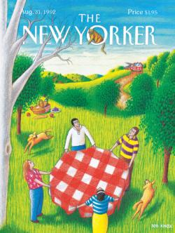 Cat Rescue (The New Yorker) Nostalgic / Retro Jigsaw Puzzle