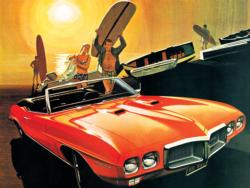 Surf's Up - 1969 Pontiac Firebird (General Motors) Nostalgic / Retro Jigsaw Puzzle