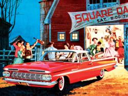 Barn Dance - 1959 El Camino (General Motors) Nostalgic / Retro Jigsaw Puzzle