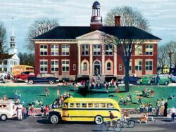 School House - 1950 GM Annual Report (General Motors) Vehicles Jigsaw Puzzle