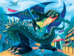 Battle with the Dragon (Harry Potter) Harry Potter Jigsaw Puzzle