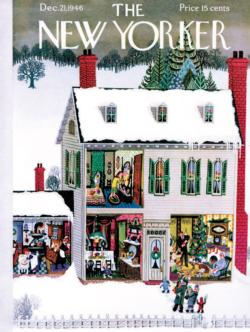 Home for the Holidays Domestic Scene Jigsaw Puzzle