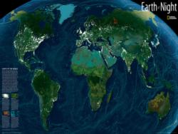 Earth at Night Maps / Geography Jigsaw Puzzle