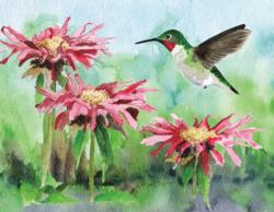 Ruby-Throated Hummingbird Birds Miniature Puzzle