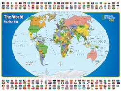 The World Kids Map Flags Children's Puzzles