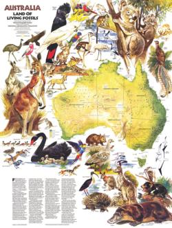 Australia Animals Maps / Geography Jigsaw Puzzle