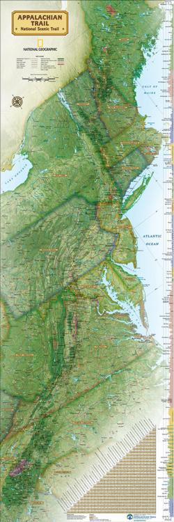 Appalachian Trail Maps / Geography Panoramic Puzzle