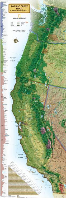 Pacific Crest Trail Maps Panoramic