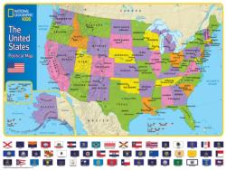 The USA Kids Map Flags Children's Puzzles