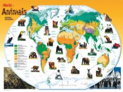 World Animals Maps / Geography Jigsaw Puzzle