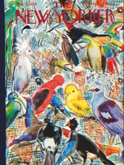 Bird Cage Magazines and Newspapers Jigsaw Puzzle
