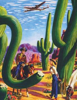 Cactus Country (Mini) Nostalgic / Retro Miniature Puzzle