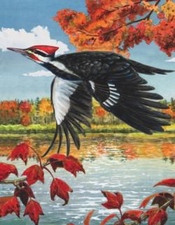 Pileated Woodpecker Mini Birds Miniature Puzzle