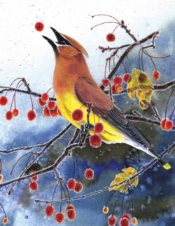 Cedar Waxwing Mini Birds Miniature Puzzle