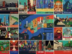 New York - Scratch and Dent Collage Jigsaw Puzzle