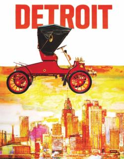 Motor City - Scratch and Dent Nostalgic / Retro Miniature Puzzle