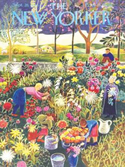 Flower Garden Magazines and Newspapers Jigsaw Puzzle