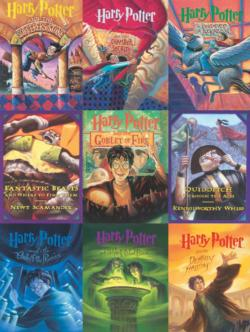 Book Cover Collage Harry Potter Jigsaw Puzzle