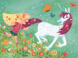Running in the Rain Unicorns Jigsaw Puzzle