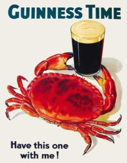Guinness and Crab Mini Food and Drink Miniature Puzzle
