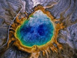 Grand Prismatic Spring Magazines and Newspapers Jigsaw Puzzle