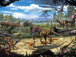 Dinosaur Shore Dinosaurs Jigsaw Puzzle