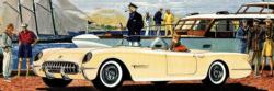 America's Sports Car Nostalgic / Retro Panoramic Puzzle