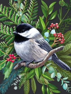 Black-capped Chickadee Birds Jigsaw Puzzle