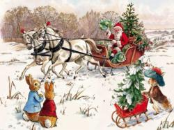 Peter Rabbit and Santa Christmas Jigsaw Puzzle