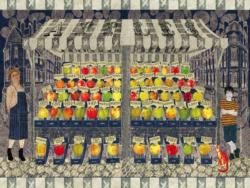 Apple Cart Food and Drink Jigsaw Puzzle