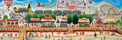 Coney Island Graphics / Illustration Panoramic Puzzle
