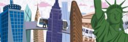 Travels Thru New York City New York Panoramic Puzzle