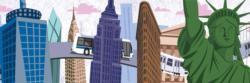 Travels Thru New York City New York Panoramic Puzzle