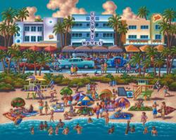 South Beach Miami Cities Jigsaw Puzzle