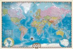 Map of the World with Poles Maps Jigsaw Puzzle