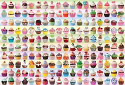 Cupcakes Galore Pattern / Assortment Jigsaw Puzzle