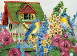 Country Cottage Flowers Family Puzzle