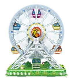 Electronic Ferris Wheel Carnival 3D Puzzle