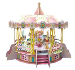 Electronic Merry Go Round Carnival 3D Puzzle