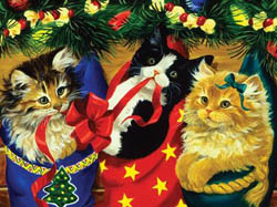 Stocking Kittens Christmas Jigsaw Puzzle