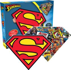 Superman Logo Super-heroes Double Sided Puzzle