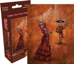 Celebration of the Mission (Pocket Puzzle) Day of the Dead Miniature Puzzle