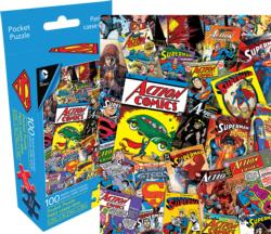 DC Comics Superman Collage (Pocket Puzzle) Super-heroes Miniature